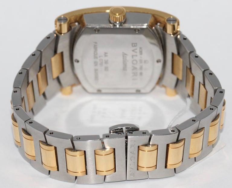 Modern Bulgari Bvlgari Assioma Ladies Wristwatch Steel and 18 Karat Gold, Ref. AA39SG For Sale