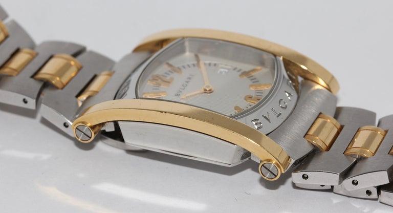 Women's Bulgari Bvlgari Assioma Ladies Wristwatch Steel and 18 Karat Gold, Ref. AA39SG For Sale