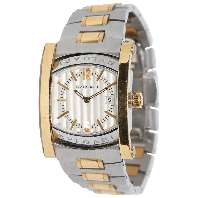 Bulgari Bvlgari Assioma Ladies Wristwatch Steel and 18 Karat Gold, Ref. AA39SG For Sale