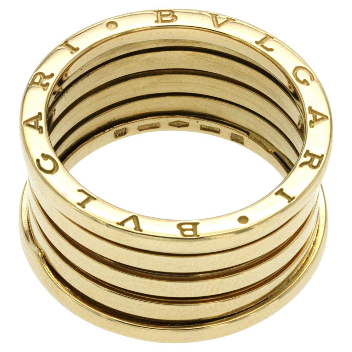 Bulgari Bvlgari B-Zero1 18K Yellow Gold 4 Bands Ring
