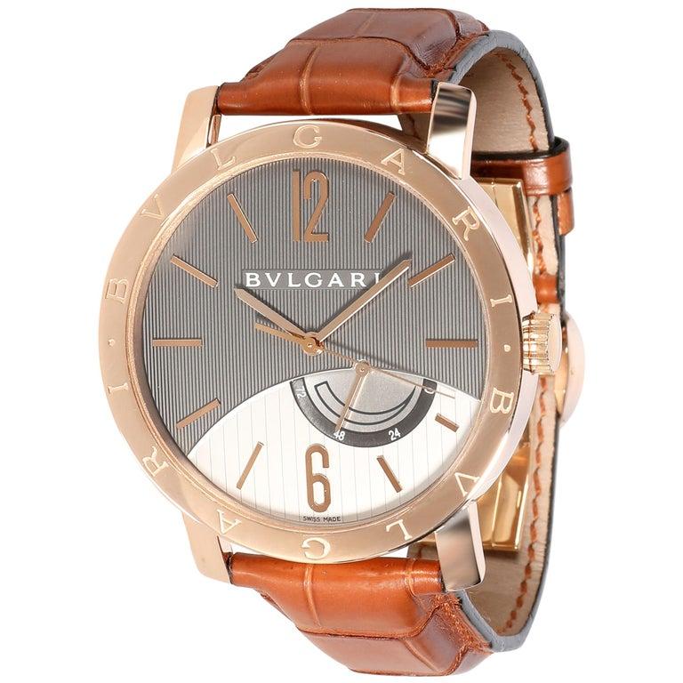 Bulgari Bvlgari Bvlgari BBP41GL Men's Watch in 18 Karat Rose Gold For Sale