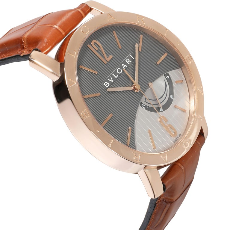 Bulgari Bvlgari Bvlgari BBP41GL Men's Watch in 18 Karat Rose Gold In Excellent Condition For Sale In New York, NY
