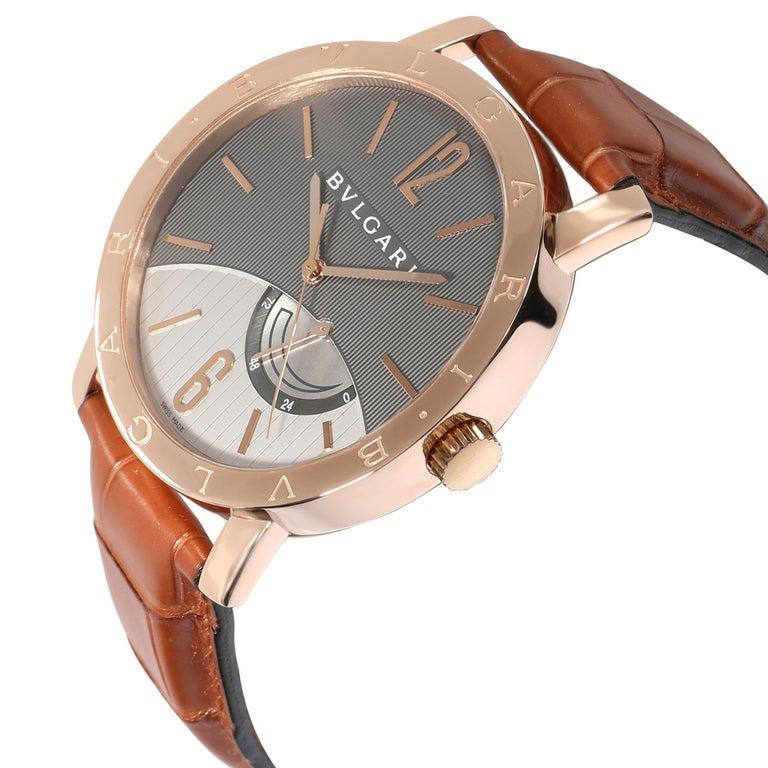 Bulgari Bvlgari Bvlgari BBP41GL Men's Watch in 18 Karat Rose Gold For Sale 1