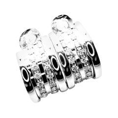 Bulgari Bvlgari B.Zero1 Diamond White Gold Hoop Earrings