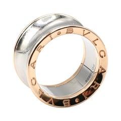 Bulgari Bvlgari B.Zero1 Pink Gold and Steel Band Ring