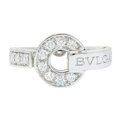 Bulgari Bvlgari Diamond 18 Karat White Gold Circle Ring