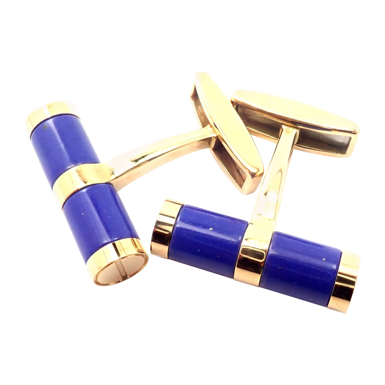 Bulgari Bvlgari Lapis Lazuli Yellow Gold Cufflinks