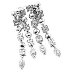 Bulgari Bvlgari Lucea Diamond Long White Gold Drop Earrings