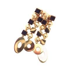 Bulgari Bvlgari Lucea Long Drop Yellow Gold Earrings
