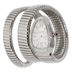 Bulgari Bvlgari Serpenti Turbogas Ladies Wristwatch Steel with Diamonds