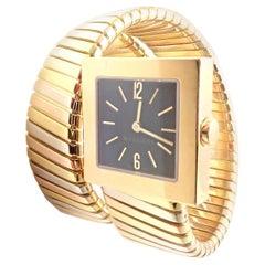 Bulgari Bvlgari Tubogas Serpent Snake Tri-Color Gold Bracelet Watch