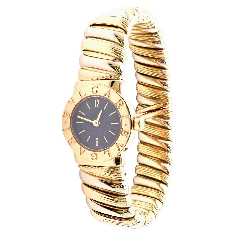 Bulgari Bvlgari Tubogas Yellow & White Gold Bangle Bracelet Watch