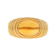 "Bvlgari ""Bypass"" Orange Citrine Dress / Cocktail Ring in 18k Yellow Gold"