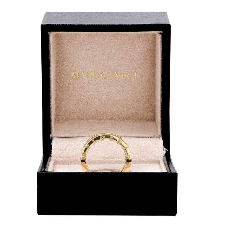 Bulgari BZERO two section ring in 18 karat yellow gold with original box. Ring Size: 7 1/4 Metal Type: 18 Karat Yellow Gold Metal Weight: 10.4 Grams