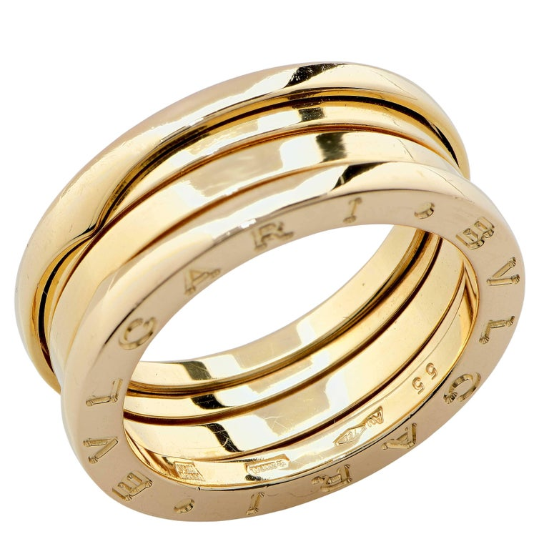 Bulgari Bzero Two Section Ring in 18 Karat Yellow Gold In Excellent Condition For Sale In Coral Gables, FL