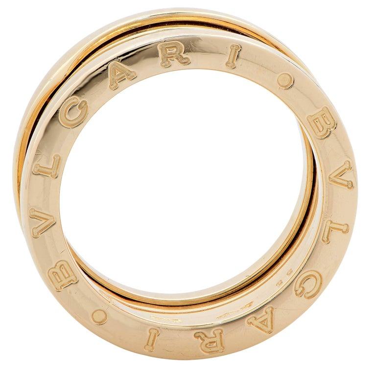 Bulgari Bzero Two Section Ring in 18 Karat Yellow Gold For Sale