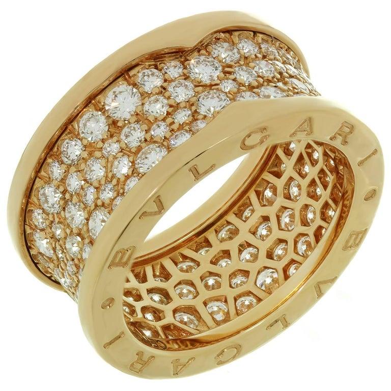 Bulgari B.Zero1 Diamond Rose Gold Band Ring. Sz. 6.25 - EU53
