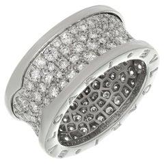 Bulgari B.Zero1 Diamond White Gold Band Ring