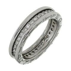Bulgari B.Zero1 Diamond White Gold Unisex Band Ring