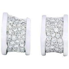 Bulgari BZero1 Modernist 1.50 Carat Diamond 18 Karat Gold Earrings