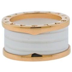 Bulgari B.Zero1 Rose Gold Ceramic Ring
