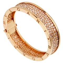 Bulgari Bzero1 Rose Gold Diamond Bangle Bracelet