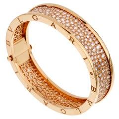Bulgari Bzero1 Rose Gold Diamond Bangle Bracelet