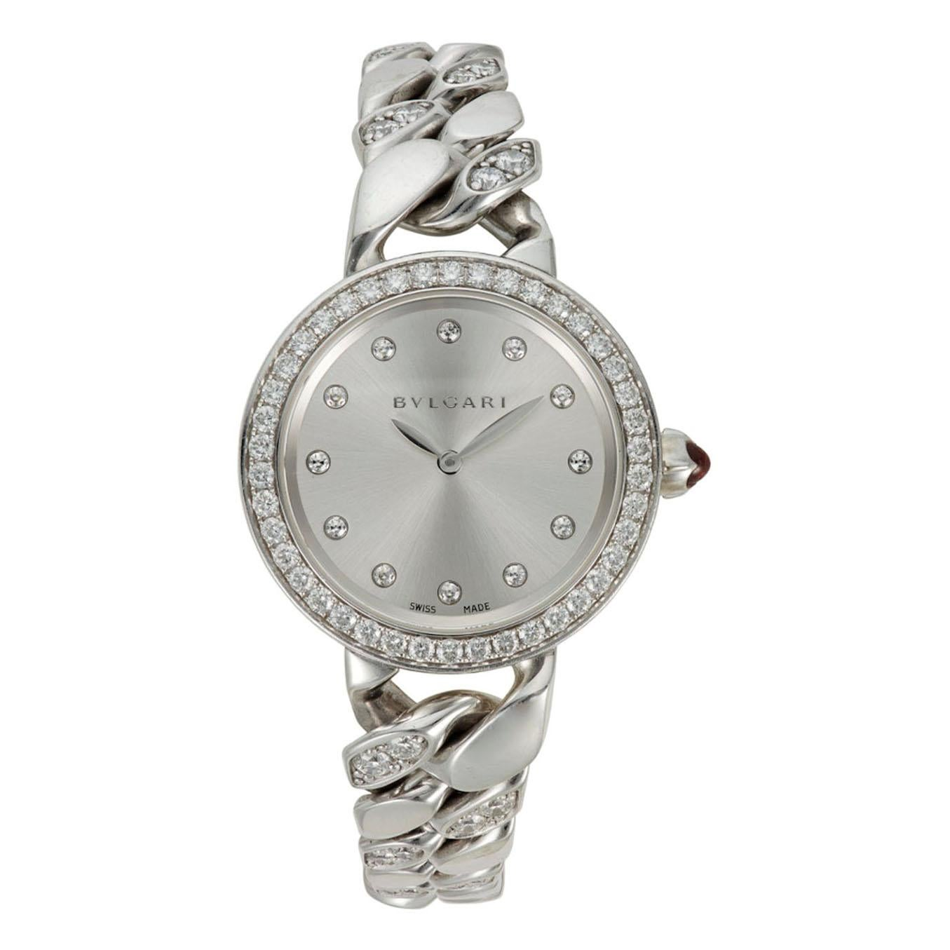 "Bulgari ""Catene"" 18k White Gold and Diamond Bracelet Bvlgari Wristwatch"