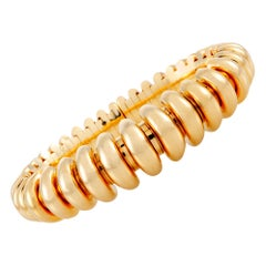 Bulgari Celtaura Yellow Gold Bangle Bracelet