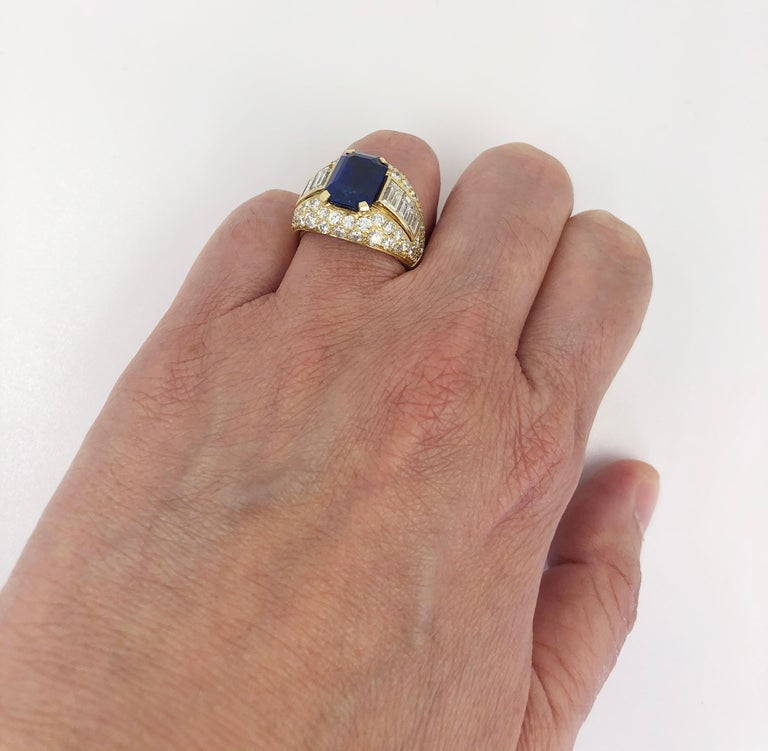 Bulgari Ceylon No-Heat Sapphire Diamond Ring For Sale 1