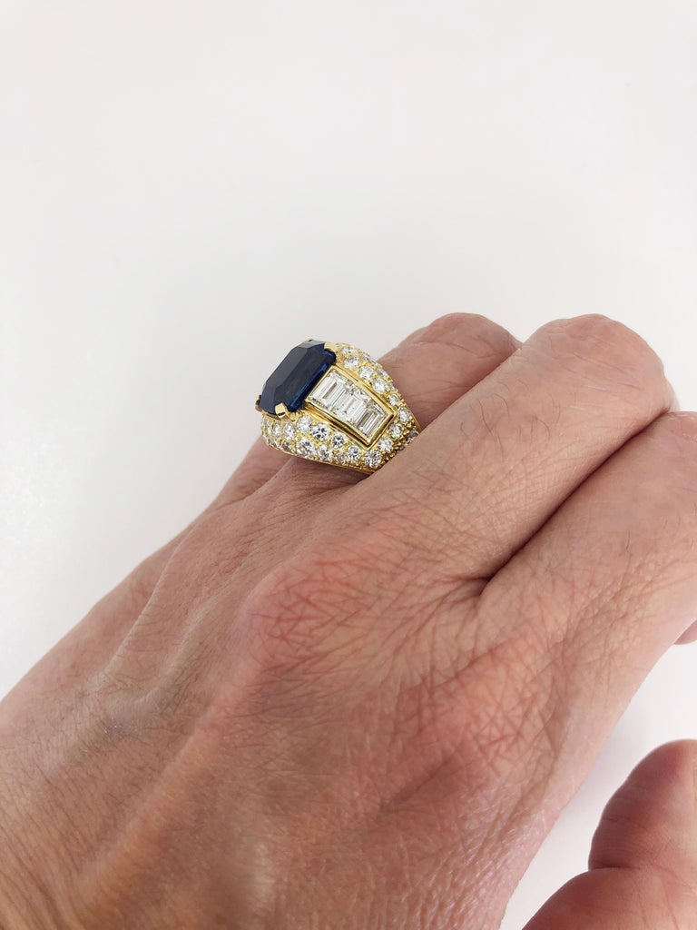 Bulgari Ceylon No-Heat Sapphire Diamond Ring For Sale 2