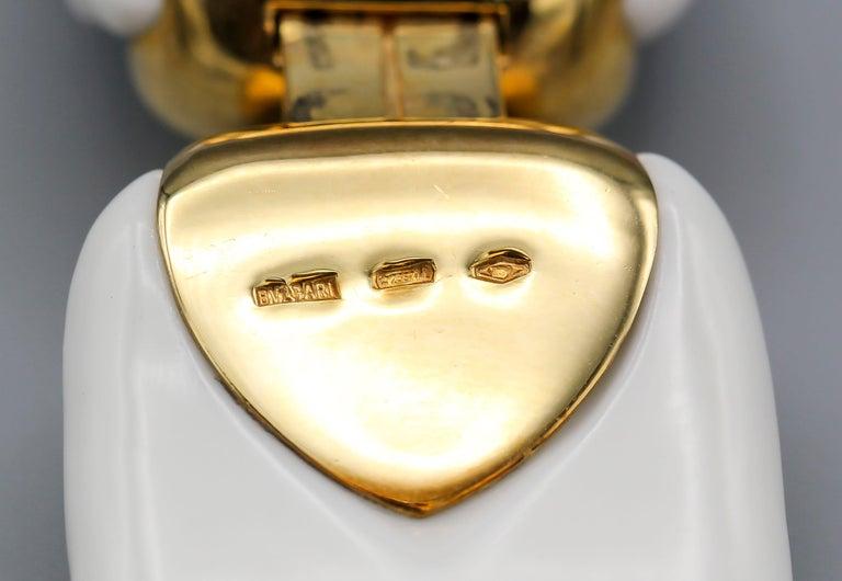 Bulgari Chandra Porcelain 18k Gold Bracelet For Sale 1