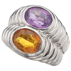 Bulgari Citrine and Amethyst Ring