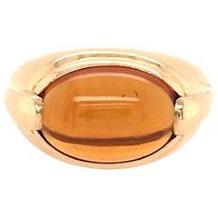 Bulgari Citrine and Gold Ring
