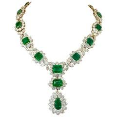 Bulgari Colombian Emerald, Diamond Detachable Necklace