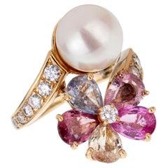 Bulgari Contraire Sapphire Diamond Yellow Gold Ring