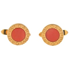 Bulgari Coral Gold Cufflinks