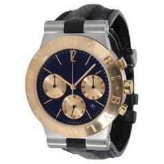 Bulgari Diagono CH 35 SG Unisex Watch in 18kt Yellow Gold/Steel