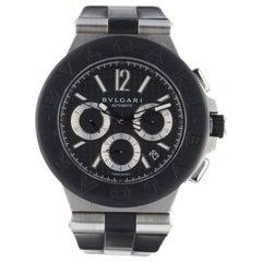 Bulgari Diagono Chronograph Steel Black Dial Automatic Men's Watch DG42SVCH