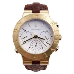 Bulgari Diagono Rattrapante CH 40 GL Split Second 18 Karat Gold Chronograph