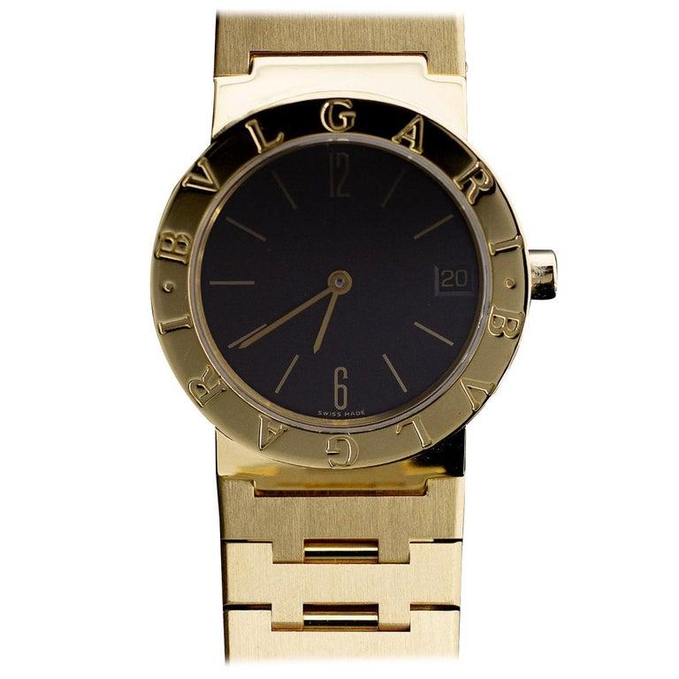 Bulgari Diagono Yellow Gold Watch BB33GGD For Sale
