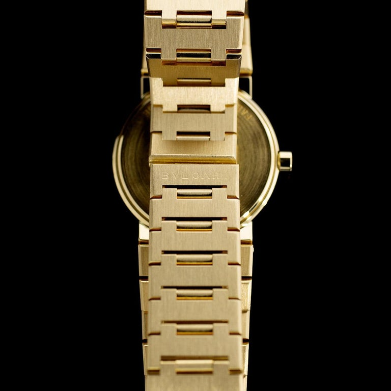 Bulgari Diagono Yellow Gold Watch BB33GGD In Excellent Condition For Sale In Columbia, MO