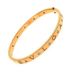 Bulgari Diamond 18 Karat Pink Gold Bvlgar, Bvlgari Bracelet M