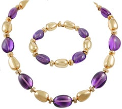 Bulgari Diamond Amethyst Necklace Suite