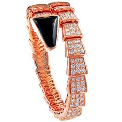 Bulgari Diamond and Onyx Serpenti Bracelet