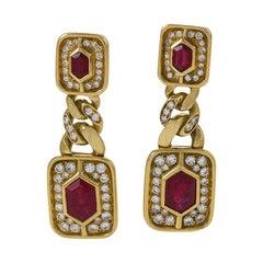 Bulgari Diamond and Ruby Earrings