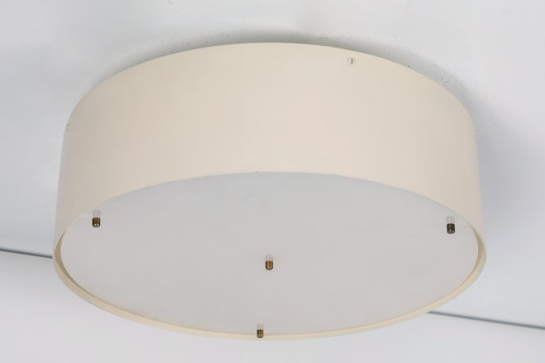 Large 1950s Jacques Biny Wall or Ceiling Light for Luminalite For Sale 2