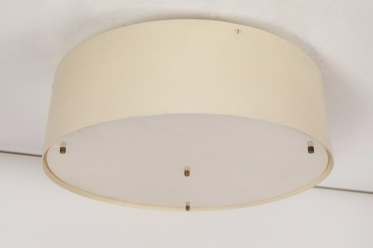 Enameled Large 1950s Jacques Biny Wall or Ceiling Light for Luminalite For Sale
