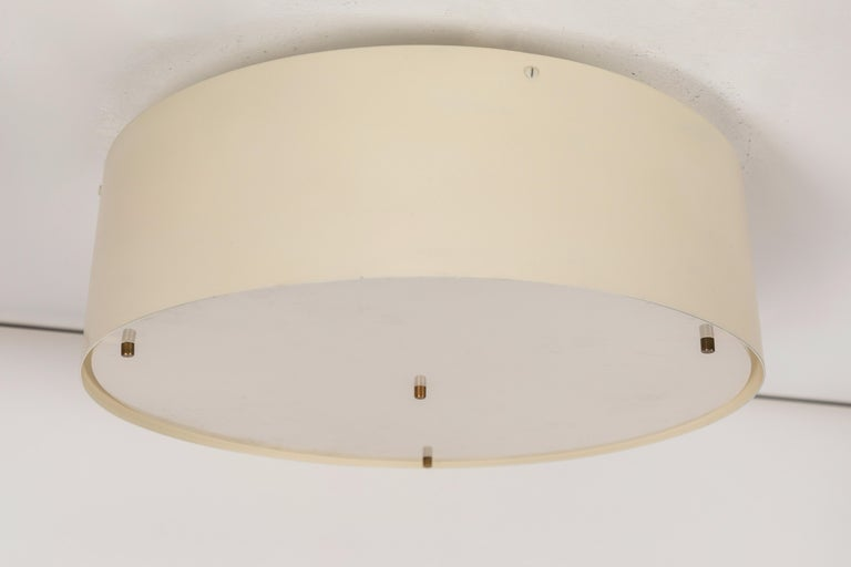 Large 1950s Jacques Biny Wall or Ceiling Light for Luminalite In Good Condition For Sale In Glendale, CA