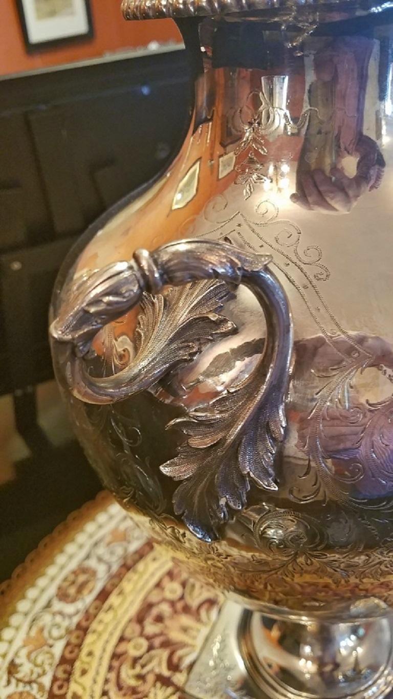 19th Century Elkington & Co. Silver Samovar In Excellent Condition For Sale In Dallas, TX